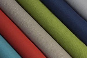 Tecidos de estofamento de cor sólida padrão e listrados GeoBella<sup>®</sup>